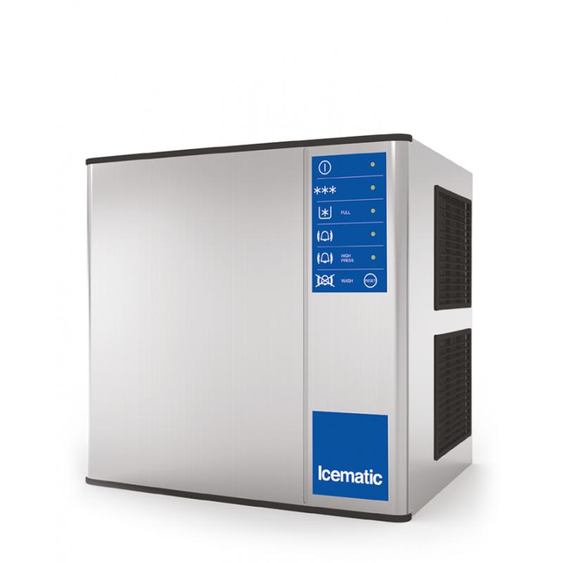 Aparat de facut gheata Icematic M 502 W, cuburi patrate, răcire cu apa, productie 24h/415kg, inox