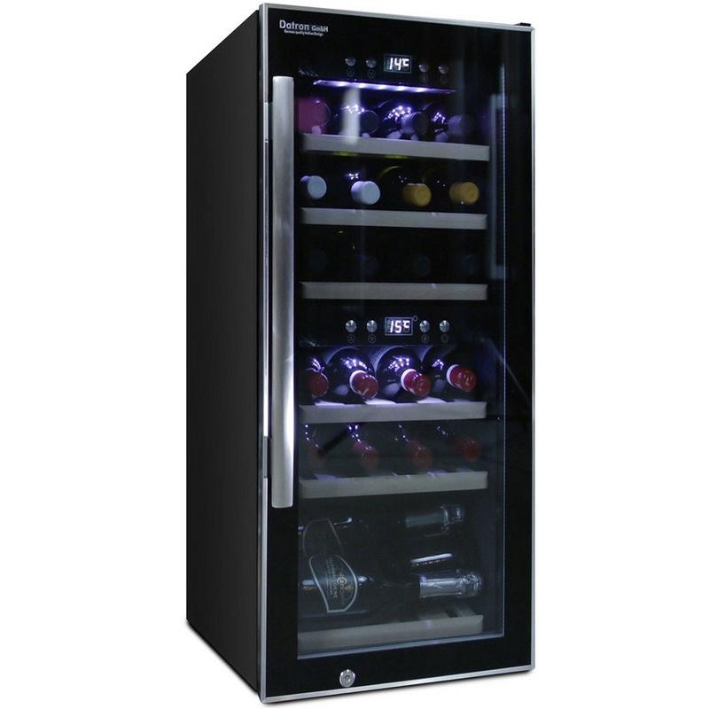 Vitrina de vinuri Datron 24 sticle 2 zone temperatura C° negru