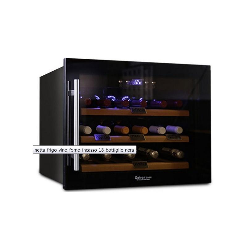 Vitrina de vinuri Datron încorporata cu compresor 18 sticle 1 zona temperatura C° negru