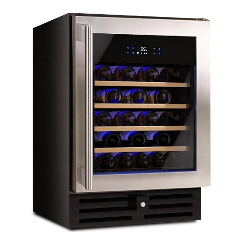 Vitrina de vinuri Datron Luxury Line profesional 54 sticle, 1 zona temperatura C° negru argintiu