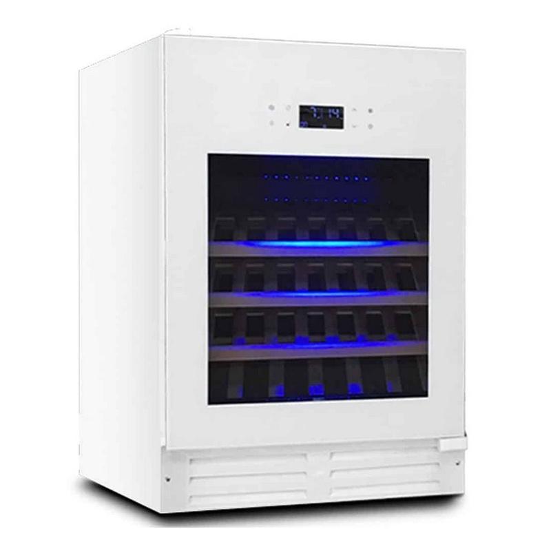 Vitrina de vinuri Datron Luxury Line profesional cu compresor 46 sticle, 2 zone temperatura C° alb