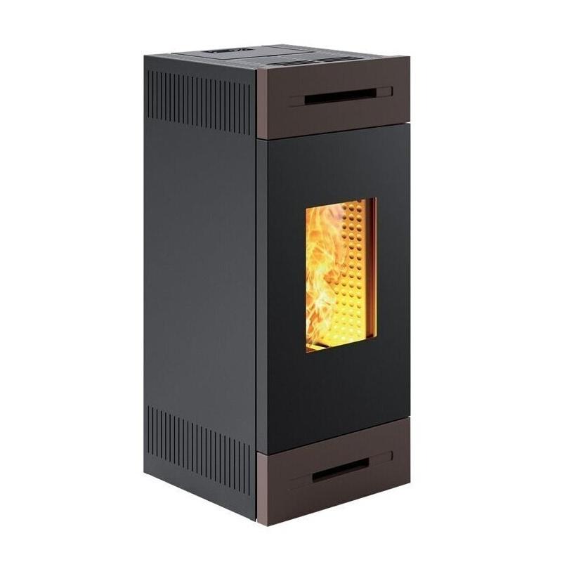 Sobă Caminetti Montegrappa TILE M MW24 cu granule pentru încălzirea apei, ermetice și ventilate de 24 kw