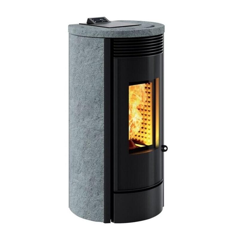 Sobă Caminetti MontegrappaMURA EVO NP10 cu pelete cu aer cald ventilat de 10 kw