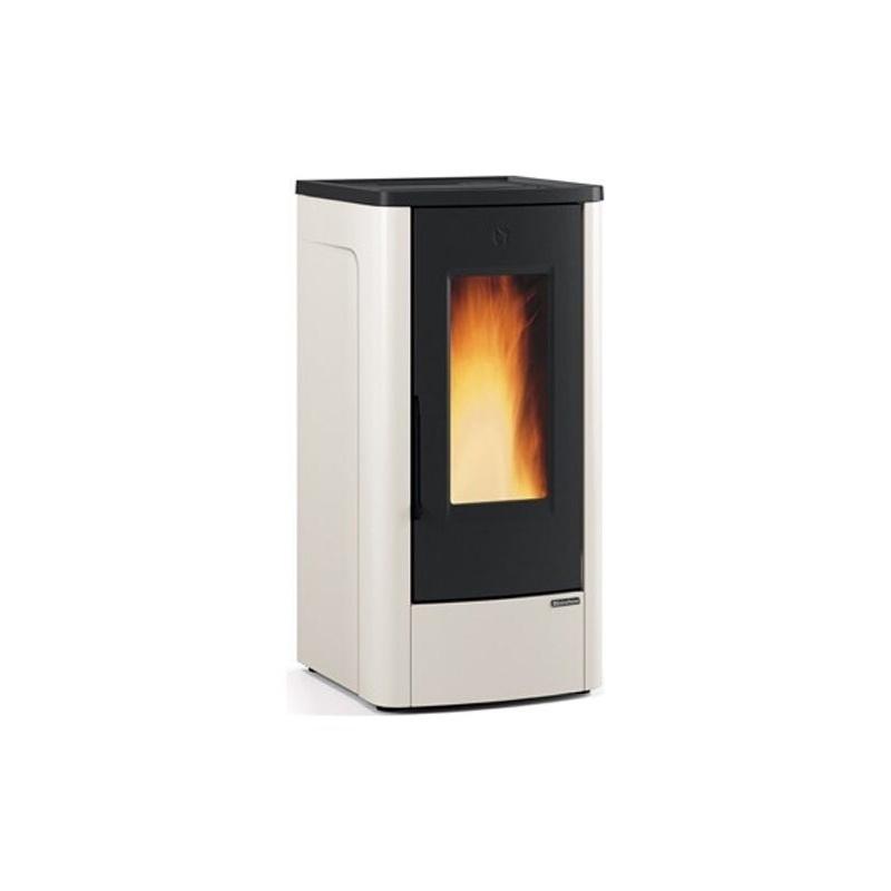 Sobă Extraflame Nordica DAHIANA peleți ventilate 10,0 kw - 285 m³ încălzite - fildeș - fontă din oțel