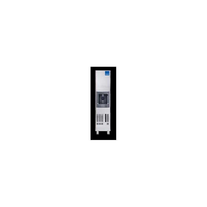 Aparat de facut gheata cu dozator Icematic DX 35 A, cuburi patrate 37 mm, condensare cu aer, capacitate stocare 12.6kg, inox