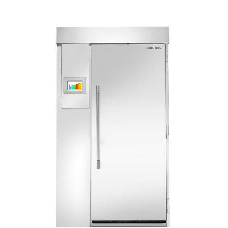 Camera frigorifica maturare Techfrost Floury FL220, capacitate 1 carucior cu 20 tavi, temperatura -5°C / +35°C, inox