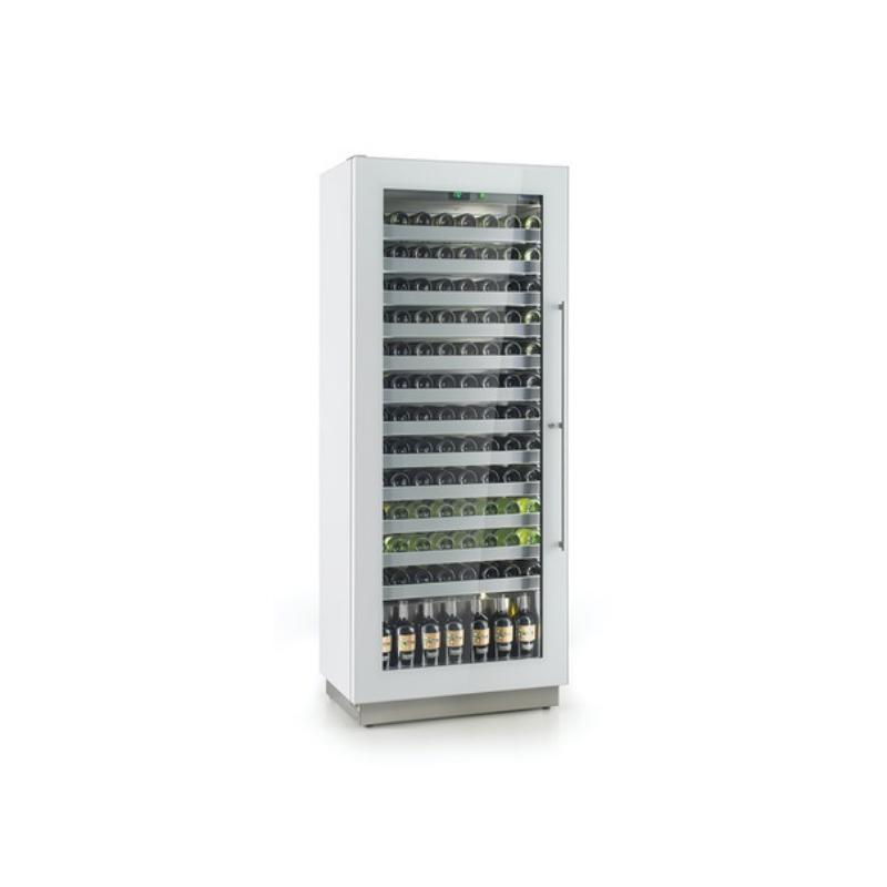 Vitrina frigorifica vinuri Enofrigo Miami RF 12 DR, capacitate 96 sticle, 1 zona temperatura +4/+18 °C, alb