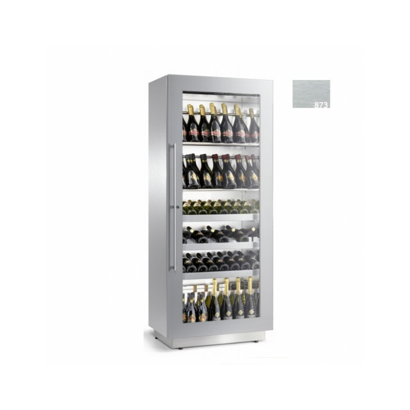 Vitrina frigorifica vinuri Enofrigo Miami RF 12 DR, capacitate 96 sticle, 1 zona temperatura +4/+18 °C, gri