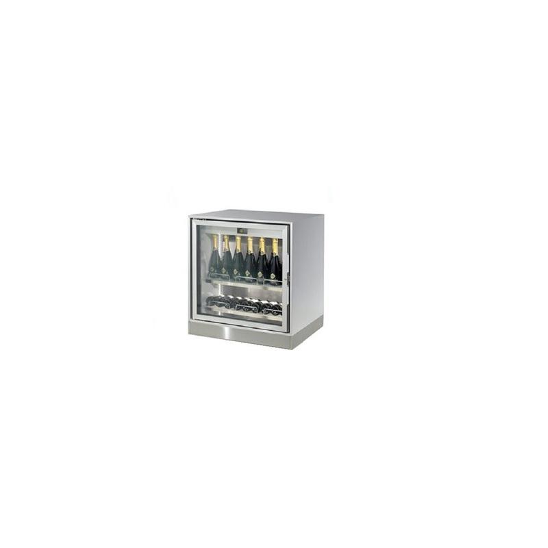 Vitrina frigorifica vinuri Enofrigo Enogalax H800/GM1C1U, 1 deschidere, capacitate 181l, zona racire +4/+18, inox