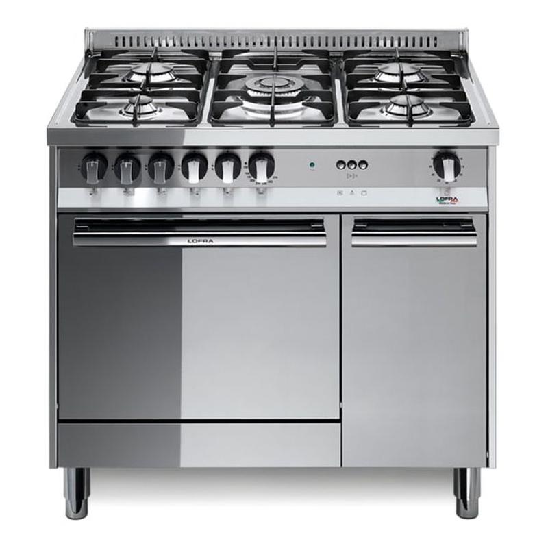 Aragaz Lofra Maxima MR96MF/C, 90x60 cm, gaz, 5 arzatoare, grill electric, timer, aprindere electronica, inox