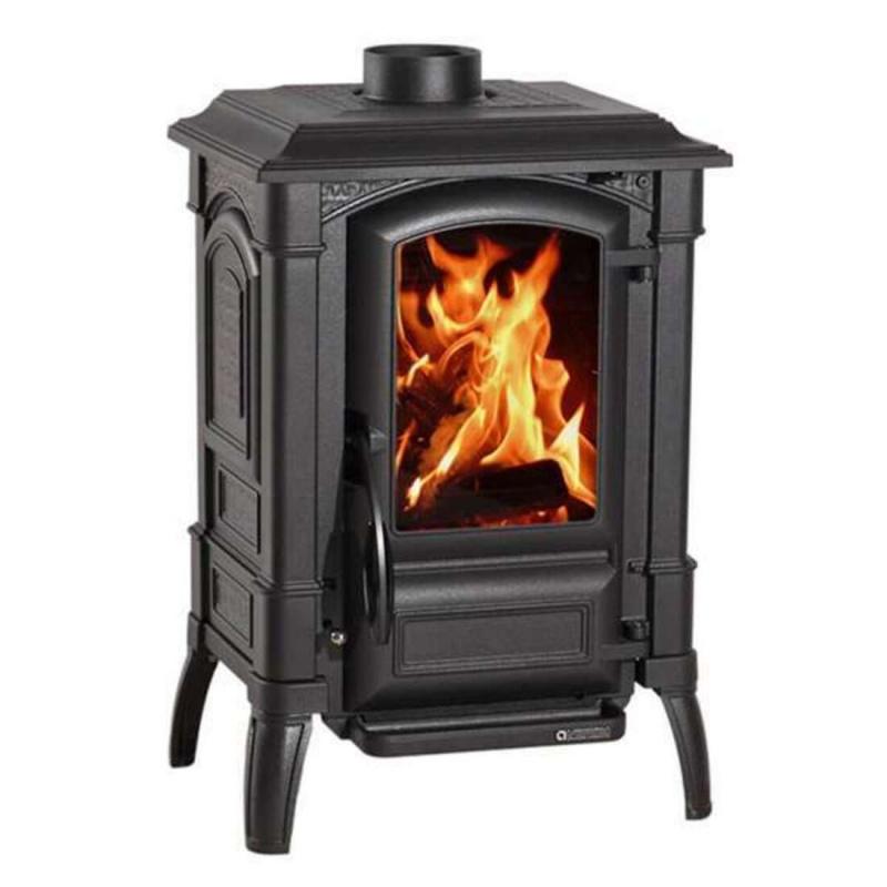 Sobă pe lemne Extraflame Nordica GIULIETTA X 4.0 de 6,5 kw - 186 m³ încălzite - negru antracit - integral din fontă emailată
