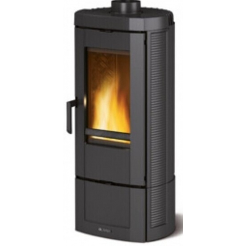 Sobă din lemn Extraflame Nordica CANDY 4.0 ,6,2 kw - 177 m³ încălzite - negru - integral din fontă emailată