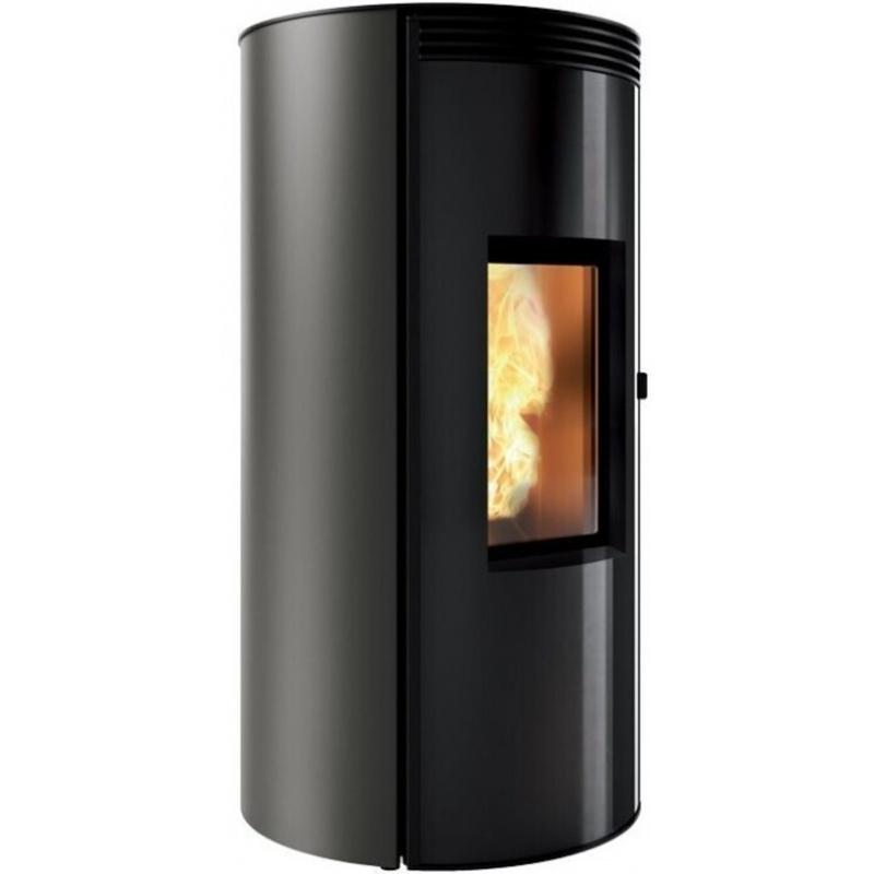 Sobă Caminetti Montegrappa CUMA EVO NPS7 EVO cu peleți cu aer cald, cu ventilație smart 7 kw placare metalica moca din otel