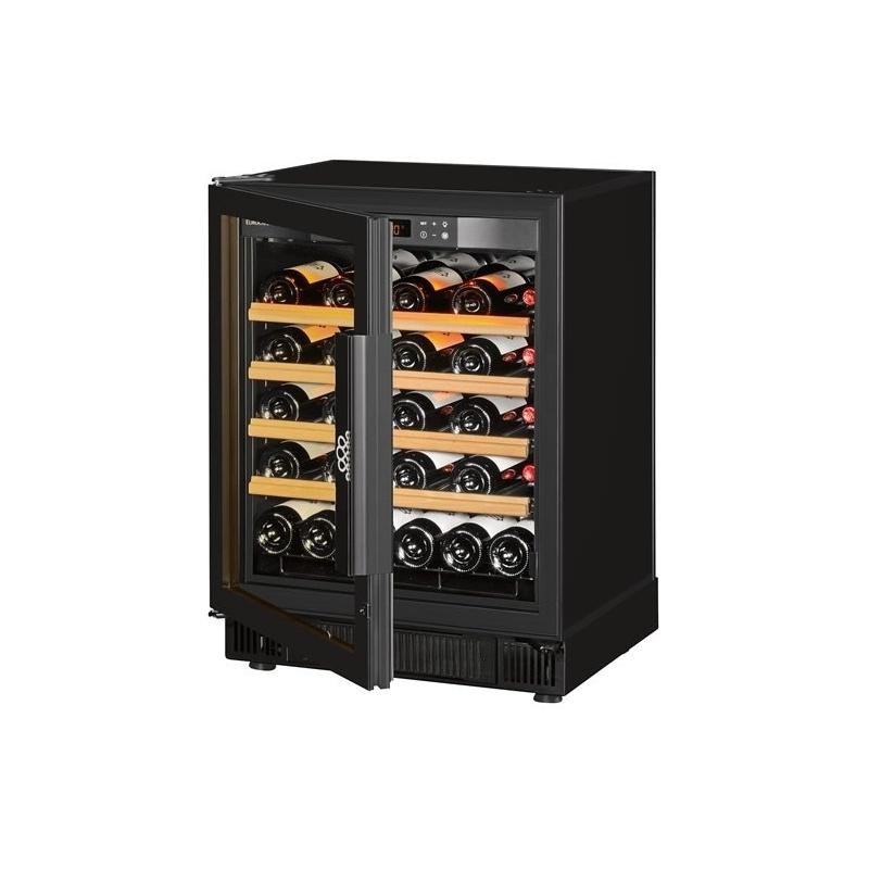 Vitrina de vinuri EuroCave Compact V059 capacitate 51 sticle usa cu geam neagra