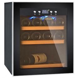 Vitrina de vin Luxus WineExpert 12 LUX-WE12Z, Capacitate 12 sticle, Negru
