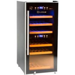 Vitrina de vin Luxus WineExpert 24 LUX-WE24ZZ, Capacitate 24 sticle, Negru