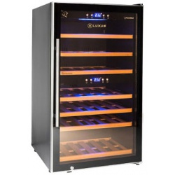 Vitrina de vin Luxus WineExpert 38 LUX-WE38ZZ, Capacitate 38 sticle, Negru