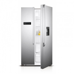 Side by Side Luxus LUX-SBS556X2DC, Clasa A+, 514 litri, H 177 cm, Dispenser, Inox