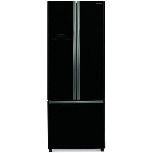 Side by Side Hitachi R-WB550PRU2(GBK), Clasa A+, 510 Litri, 178 cm inaltime, Sticla neagra