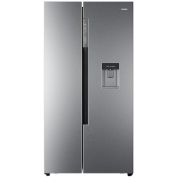 Side by Side Haier HRF-522IG7, 557 l, Clasa A++, No Frost, H 179 cm, Dispenser, Silver