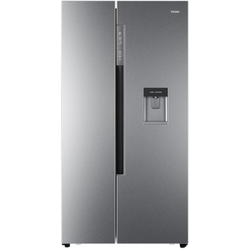 Side by Side Haier HRF-522IG6, 500 l, Clasa A+, No Frost, H 179 cm, Dispenser, Argintiu