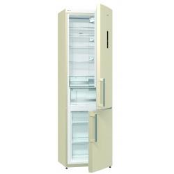 Combina frigorifica Gorenje NRK6201MC-0, 363 l, No frost, Crem