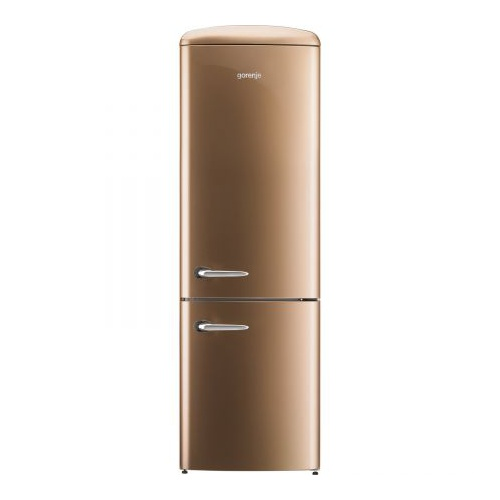 Combina frigorifica Gorenje Old Time ONRK193CO, NoFrost Plus, 334 l, Clasa A+++, 194 cm, Cappuccino