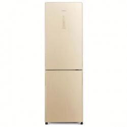 Combina frigorifica Hitachi R-BG410PRU6X(GBE), 330 L, clasa A++, 219 kWh/an, No Frost, Sticla beige