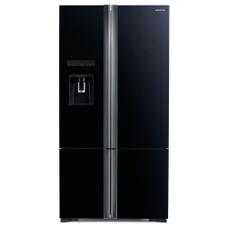 Side by Side Hitachi R-WB800PRU6X(GBK), Clasa A++, 640 Litri, 183 cm inaltime, Sticla neagra
