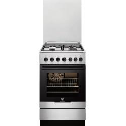 Aragaz mixt Electrolux EKM51351OX, 4 Arzatoare gaz, Cuptor electric, Grill, 50 cm, Inox