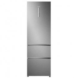 Combina frigorifica Haier A3FE635CMJ, Clasa A+, 265 KWh/an, 330L, No Frost, Inox