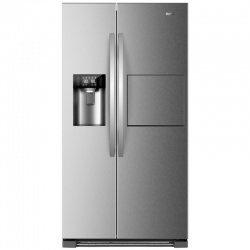 Combina frigorifica Side by Side Haier HRF-630AM7, 555 l, No Frost, clasa A++, Inox