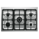 Aragaz Tecnogas PP965MX, 90x60 cm, gaz, 5 arzatoare, aprindere electronica, grill, rotisor, otel inoxidabil