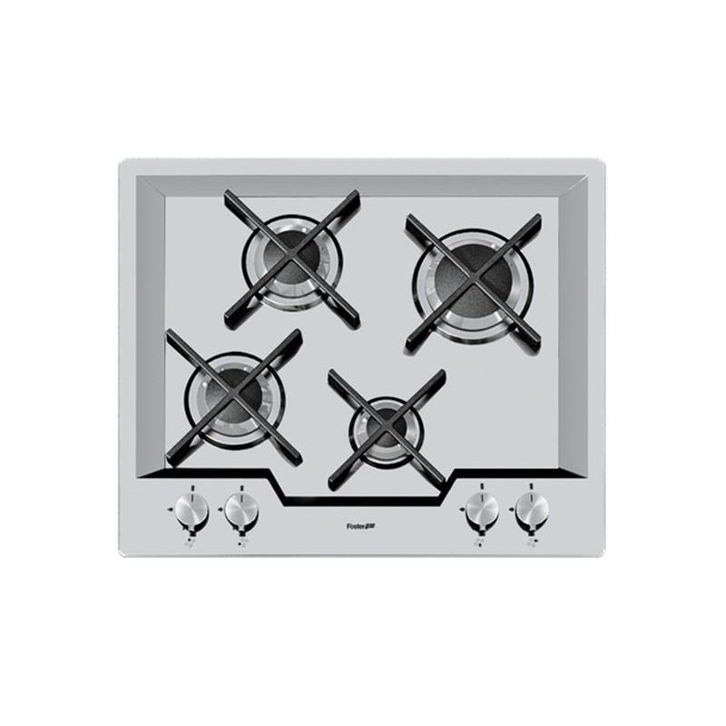 Plita Incorporabila Foster Ks 7615032, Instalare Std, Gaz, 59cm , 4 Arzatoare, Aprindere Electrica, Siguranta Gaz, Inox