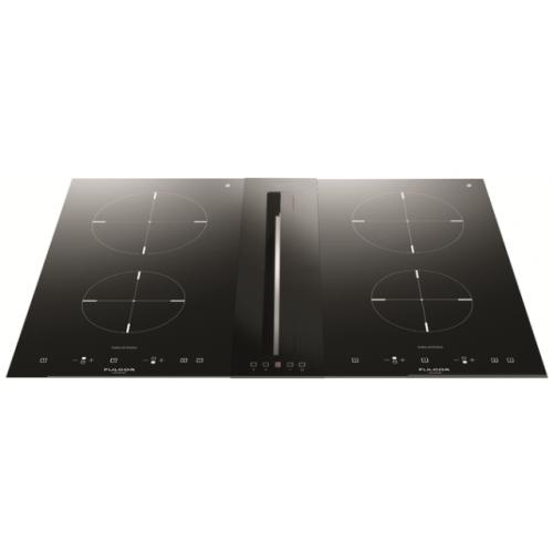 Hota aplicata Fulgor Milano FPH 51014 TC BK, 51 cm, touch control, sticla neagra