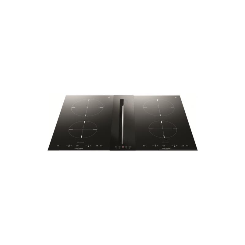 Hota DownDraft Fulgor Milano FPH 51014 TC BK, aplicata pe blat, 51 cm, touch control, sticla neagra