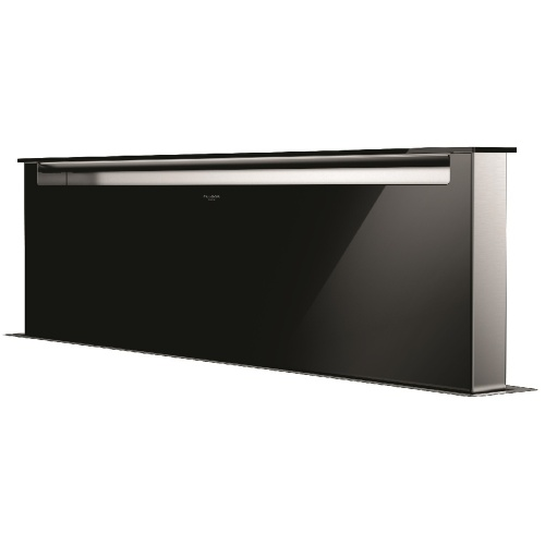 Hota aplicata Fulgor Milano LHDD 12010 RC BK, 120 cm, sistem Downdraft,telecomanda, sticla neagra