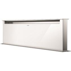 Hota aplicata Fulgor Milano LHDD 12010 RC WH, 120 cm, sistem Downdraft,telecomanda, sticla alba