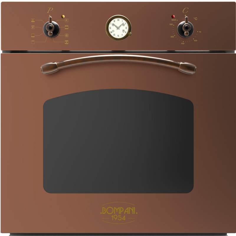 Cuptor incorporabil Bompani Rustico Rame BO249SR / E electric multifunctional 60cm 54l cupru