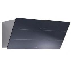 Hota decorativa Foster FL Slim 2450690, 90 cm, 725 m³/h, 1 motor, sticla neagra