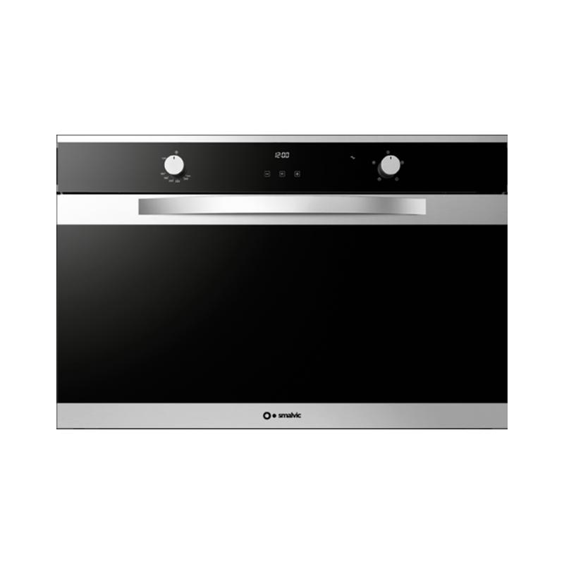 Cuptor electric incorporabil Smalvic LINEAR FI-95MT B , 90cm, 110l, grill electric, inox si negru