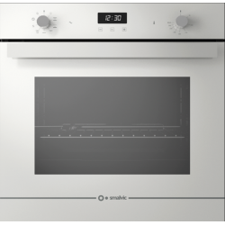 Cuptor electric incorporabil Smalvic GLASS BIANCO FI-74MTLB, 60cm, 74l, grill electric, alb