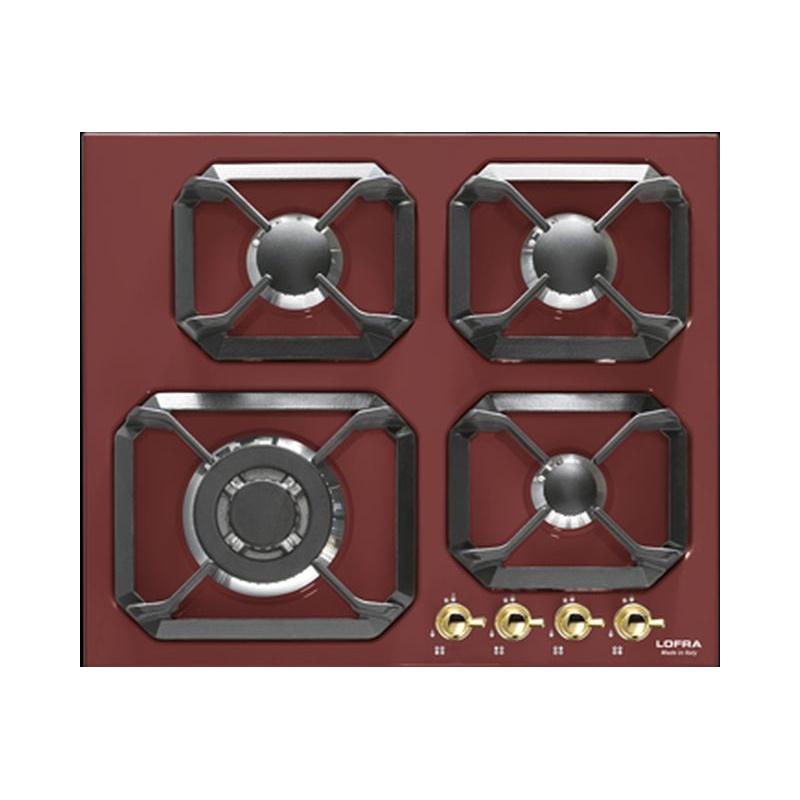 Plita incorporabila Lofra Dolcevita HRR6G0, 60 cm, plita gaz, 4 arzatoare,sistem siguranta Stop-Gaz, rosu burgundy
