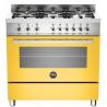Aragaz Bertazzoni Profesional PRO906HYBSBIT, 90x60 cm, gaz, 6 arzatoare, cuptor hibrid multifunctional, alb