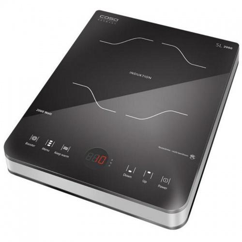 Plita cu inductie Caso SlimLine 2000,2000W,10 nivele de putere,negru/otel inoxidabil