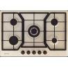 Plita incorporabila Smalvic COUNTRY PD-75V4G1TC, 75 cm, plita gaz, 5 arzatoare, sistem siguranta Stop-Gaz, negru antracit