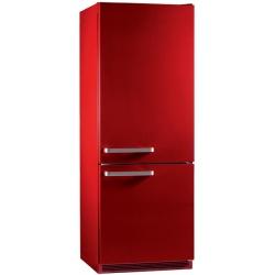 Combina frigorifica SWiSS INOX 6SWIN316FRE, Clasa A+, 316 litri, Latime 60 cm, Rosu