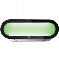 Hota design suspendata Baraldi Alexa RGB 01ALXISRGB90ST90, 90 cm, 800 m3/h, sticla/inox
