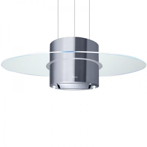 Hota design suspendata Baraldi Elix 01ELXIS090STG38, 90 cm, 380 m3/h, sticla/inox