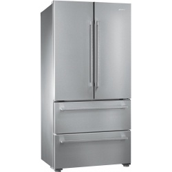 Side by side SMEG CLASSICA SBS63XE, Clasa A+, 616 litri, Latime 91 cm, total No Frost, inox antiamprenta